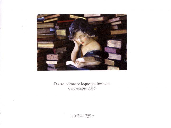 Actes 19e Colloque des Invalides 2015 – Oubliettes et revenants