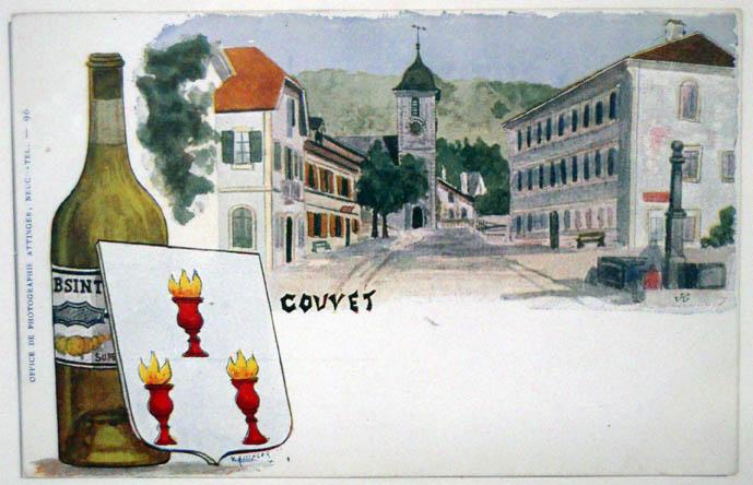 Carte postale Couvet Coll Part