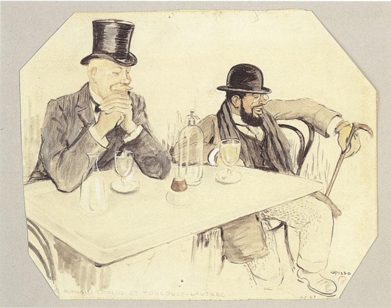 1898 Ricardo Opisso-Sala Romain Coolus et HTL au Wepler Musée AMC Strasbourg