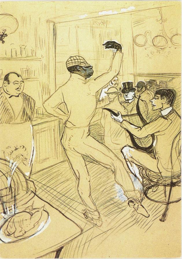 Lautrec 1896 Chocolat Encre de Chine gouache craie Albi